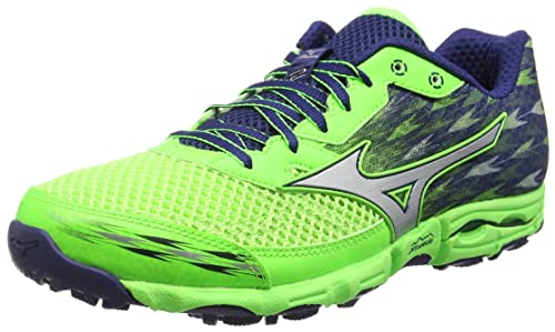 Mizuno Wave Hayate 2, Men's Trail Running Shoes, Green (Green Gecko/Silver