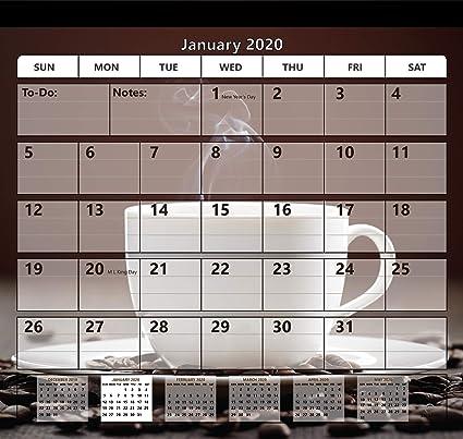 StriveZen 2019-2020 Calendario magnético para nevera, 2 imanes ...