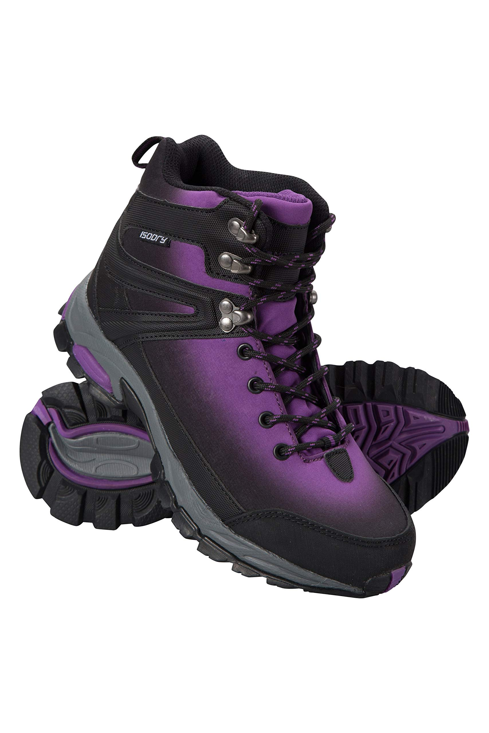 Mountain Warehouse Intrepid Womens Softshell Boots - Waterproof Shoes Purple Womens Shoe Size 7 US by Mountain Warehouse