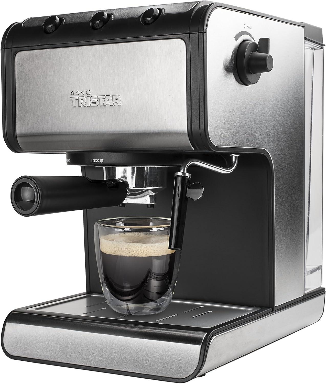 Tristar CM-2273 Cafetera Espresso, 850 W, 1.4 litros, Negro, Acero ...