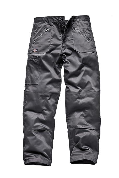 Hombre Dickies Redhawk Action Pantalones de trabajo Gris Grey Talla del fabricante: 42R 52R