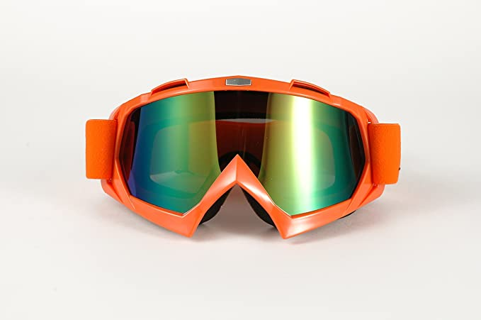7a0b3443dbc ... Moto Onfire Motorcycle Goggles Glasses Outdoor Motocross Sports Bike  Racing Riding Protective Eyewear Sun-UV Protection Color Lens(Orange)01-109-1012   ...