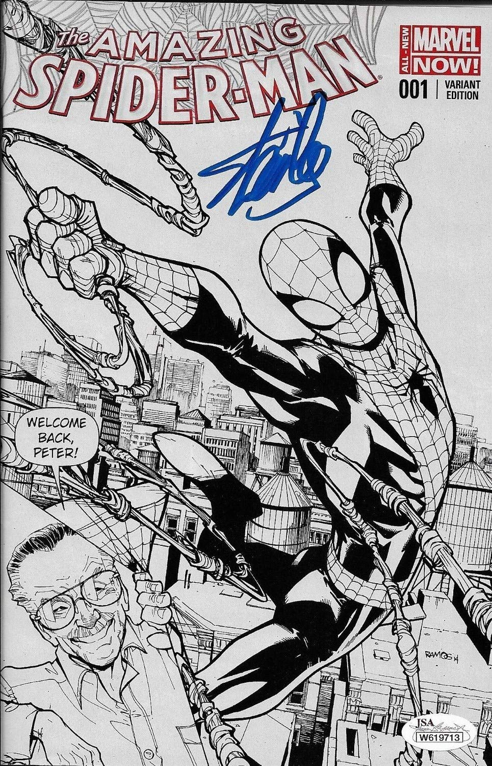 Stan Lee Autographed Signed Amazing Spider Man Variant Edition Comic Book JSA Authentic