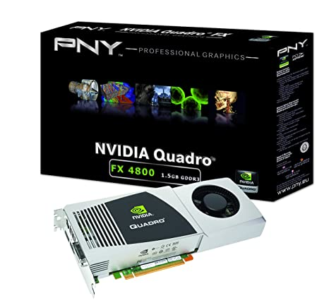 NVIDIA Quadro FX 4800 by PNY 1.5GB GDDR3 PCI Express 2.0 x16 DVI-I DL Dual DisplayPort and Stereo OpenGL, DirectX, CUDA, and OpenCL Profesional ...