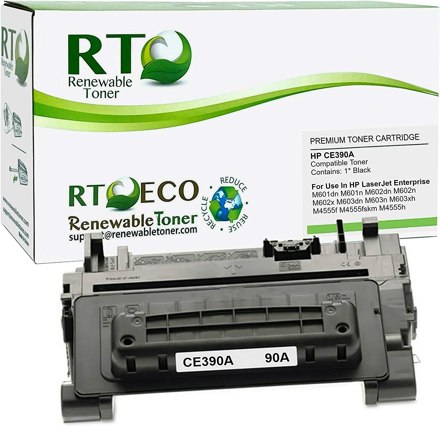 Renewable Toner Compatible Toner Cartridge Replacement for HP 90A CE390A Laserjet Enterprise M601 M602 M603 M4555