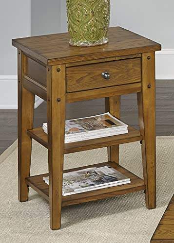 Liberty Furniture Industries Lake House Chair Side Table, 18 x 18 x 26 , Medium Brown
