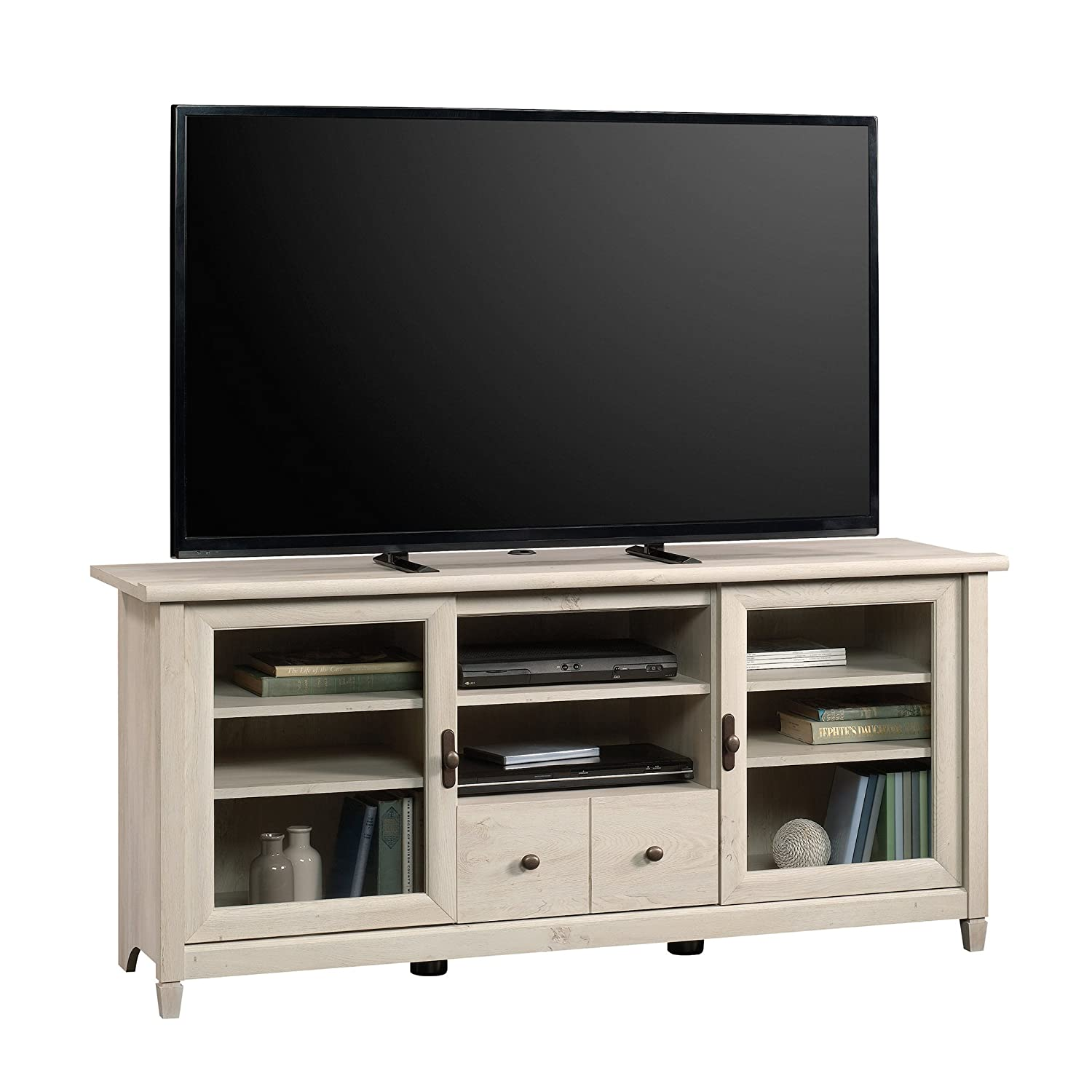 Sauder Edge Water Entertainment Credenza, For TV s up to 55 , Chalked Chestnut finish