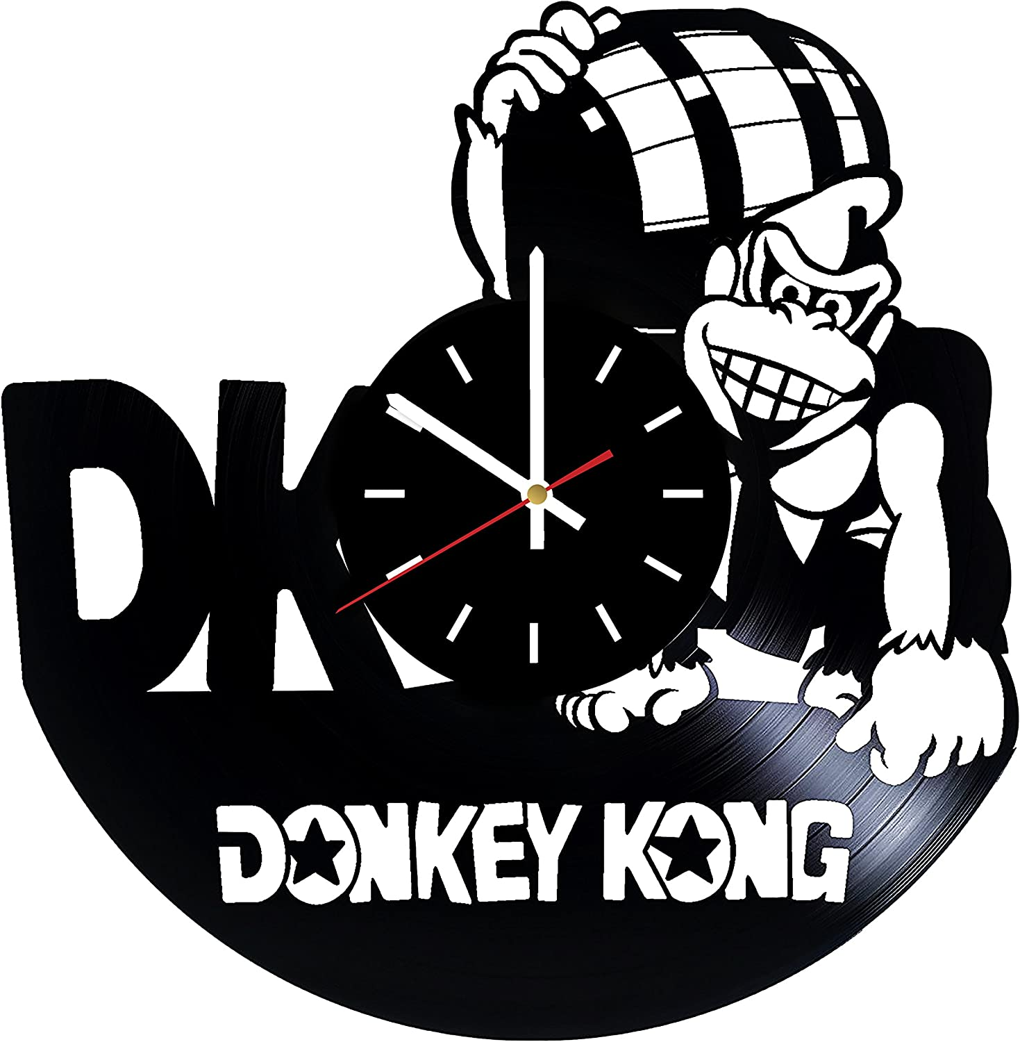Everyday Arts Donkey Kong Video Games Design Vinyl Record Wall Clock - Get Unique Bedroom or Garage Wall Decor - Gift Ideas for Friends, Brother - Darth Vader Unique Modern Art