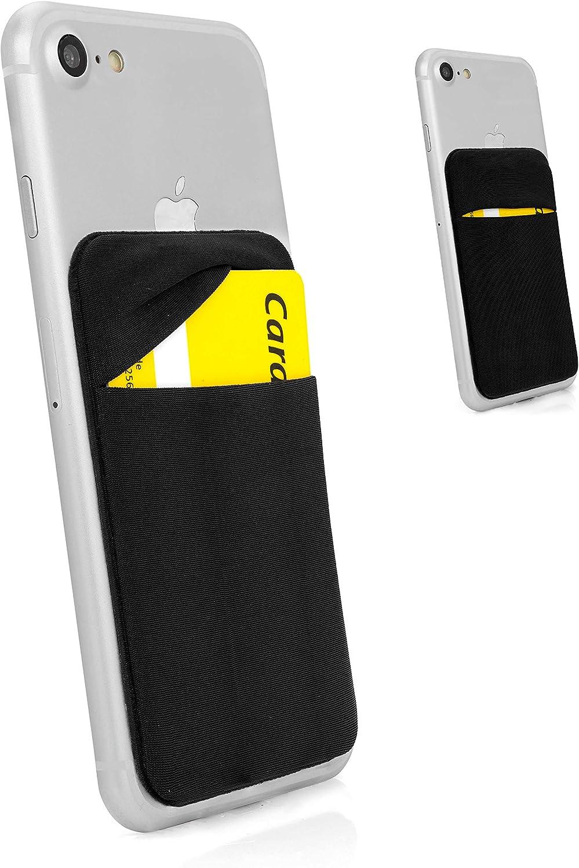 MyGadget Porta Tarjetas de Crédito Adhesiva con 1 Bolsillo para ...