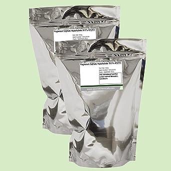 Epsom Sal Magnesio Sulfato Heptahidrato 99,5% 2 x 500 g (1Kg)