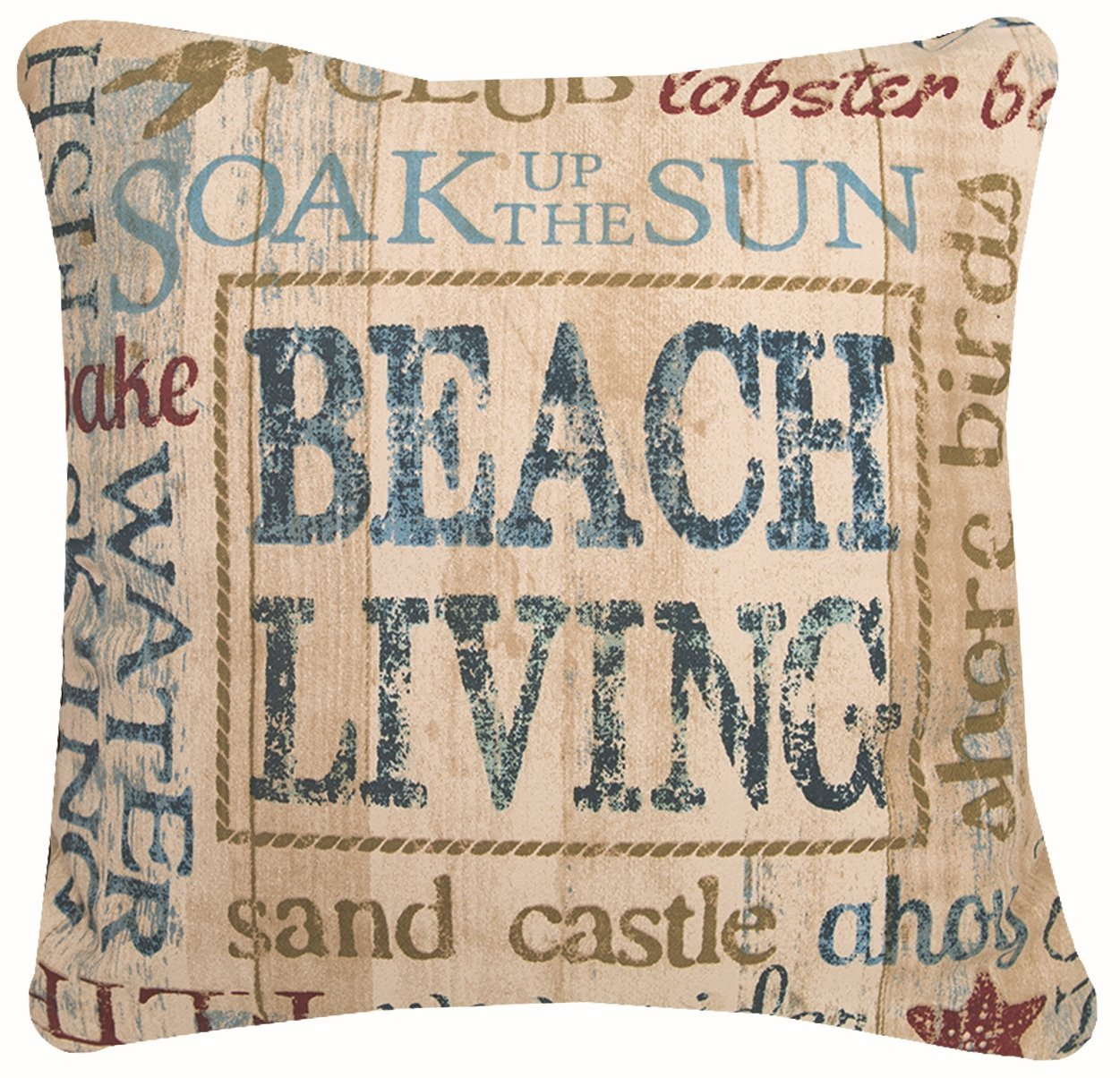 """Heritage Lace Beach Living Pillow, 18""""x18"""""""
