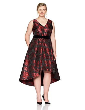 38e6a2ee7da Eliza J Women s Plus Size Floral Fit and Flare Dress at Amazon Women s  Clothing store