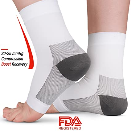 AprilTex Ankle Compression Sleeve for Men   Women - Foot Support Socks for  Pain Relief 923e1f2ffb