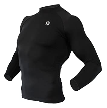 Coovy Mens Winter Thermal Compression Under Base Layer Cold Armour Gear Top
