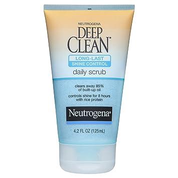 Neutrogena Deep Clean Shine Control Daily Scrub, 4.2 Fl Oz Seacret Facial Cleansing Milk