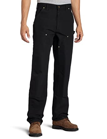 e0f20e67 Amazon.com: Carhartt Men's Firm Duck Double- Front Work Dungaree Pant B01:  Work Utility Pants: Clothing