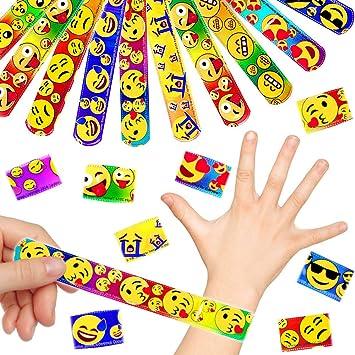 German Trendseller® 6 x pulseras de la palmada emoji ...