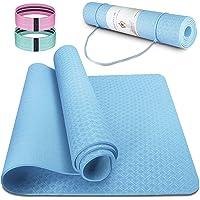 Esterilla Yoga Antideslizante Estera Pilates Ecológica TPE Deporte Fitness para Entrenamiento de Gimnasia 183x61cm, con…