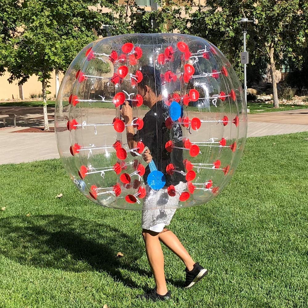 [2019 Upgraded] Human Hamster Ball, Bubble Soccer, Inflatable Bumper Balls for Kids/Adults, Zorb Bubble Ball 5 FT,W/Bag