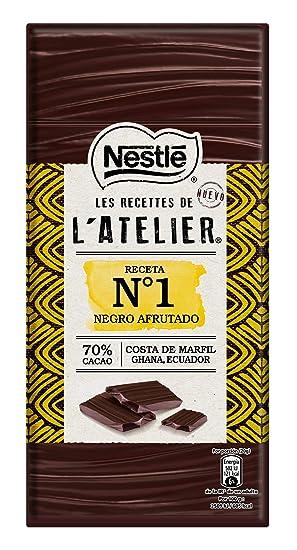 Nestlé Les Recettes de lAtelier Chocolate Negro 70% Cacao - Tableta de Chocolate