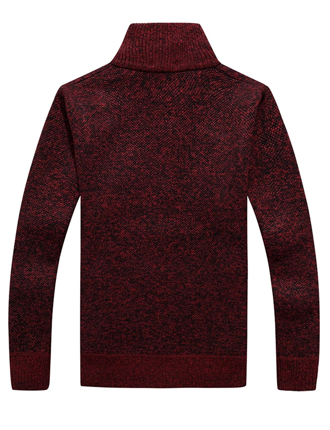 de38e388890a7 Yeokou Men's Casual Slim Full Zip Thick Knitted Cardigan Sweaters with  Pockets at Amazon Men's Clothing store: