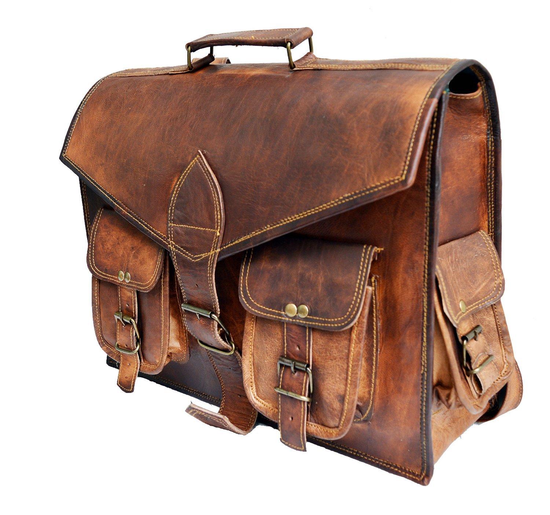 16 Genuine Leather messenger bag for men convertible laptop backpack shoulder bag Jaald Store 15HOR