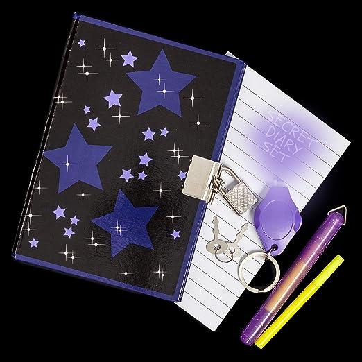 Emballages endommagés Secret Diary Set 09076 avec UV torche /& Invisible stylos!
