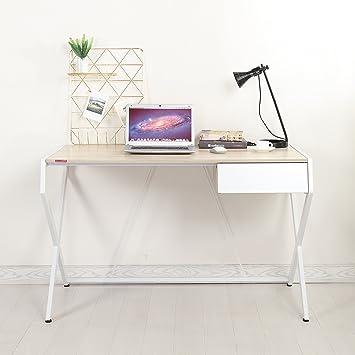Delightful Mr IRONSTONE Designer Computer Desk With Drawer 120x60cm Modern Elegant  Office Desk Writing Desk Workstation For