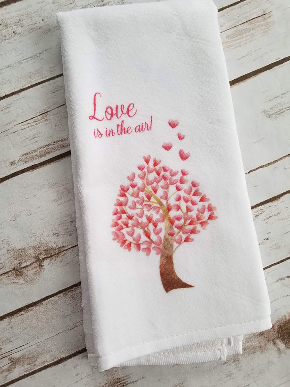 Love is in the Air Valentines Day Kitchen or Bathroom Towel Gift