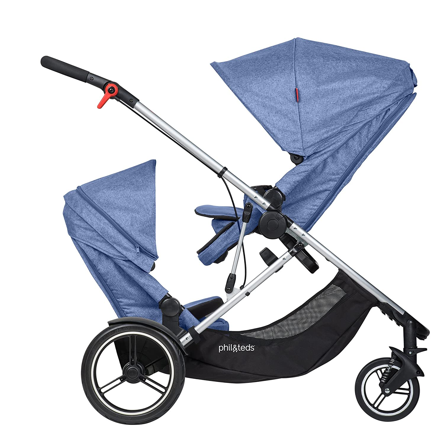 Amazon Phil and Teds Voyager Stroller WITH Doubles Kit Black Baby