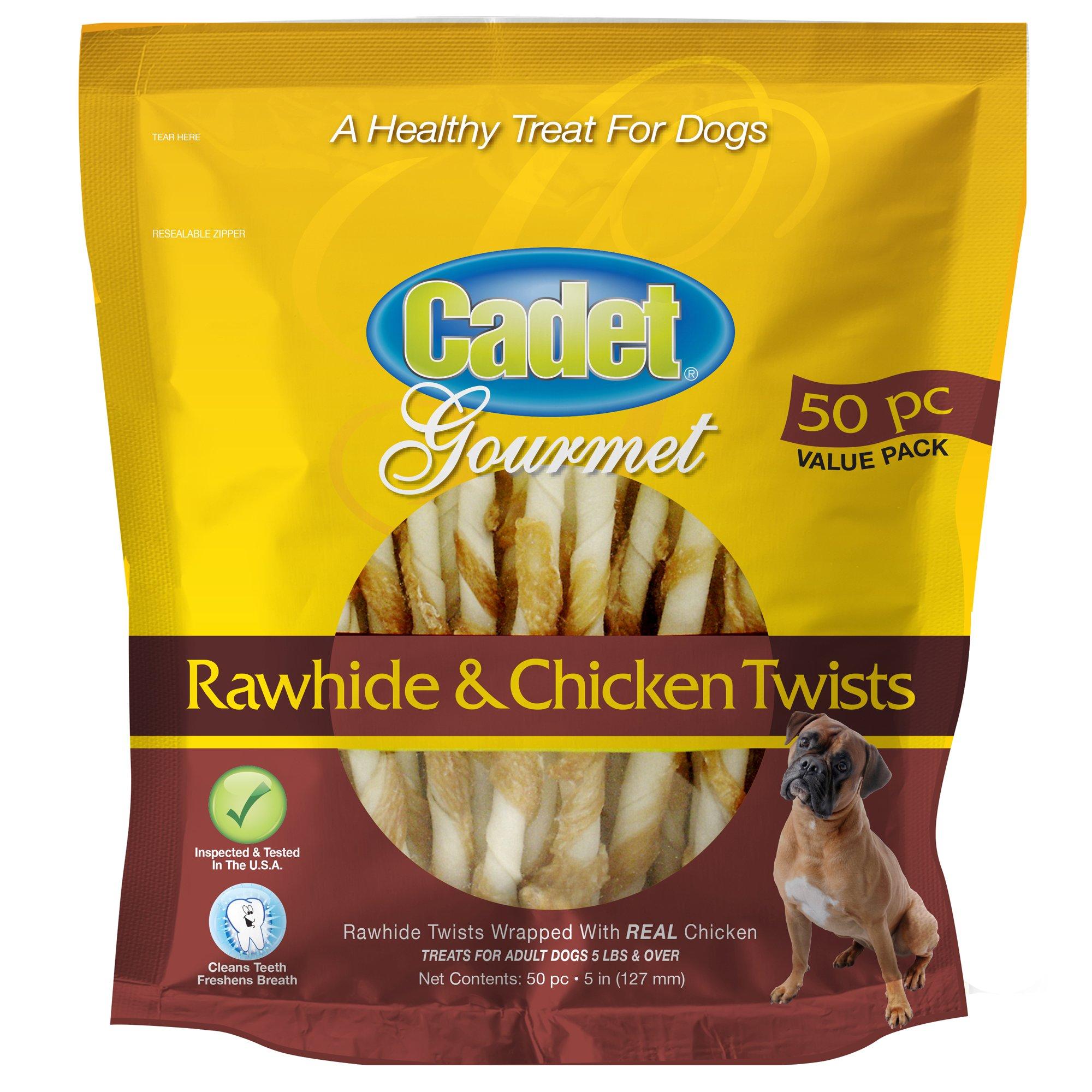 Cadet Chicken and Rawhide Dog Chew Treats, 50 Ct