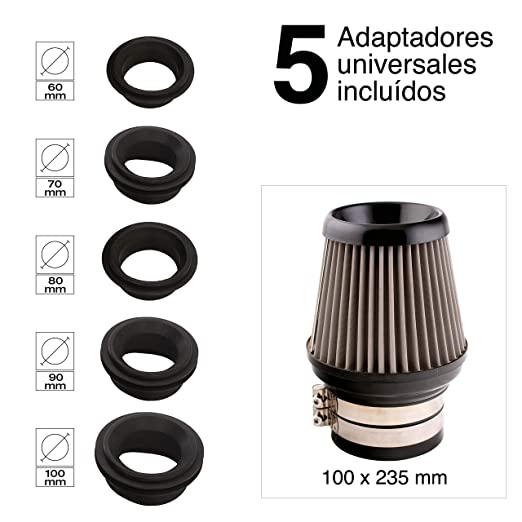 Sumex Airsilc - Filtro Aire Universal, Gris/Negro: Amazon.es: Coche y moto