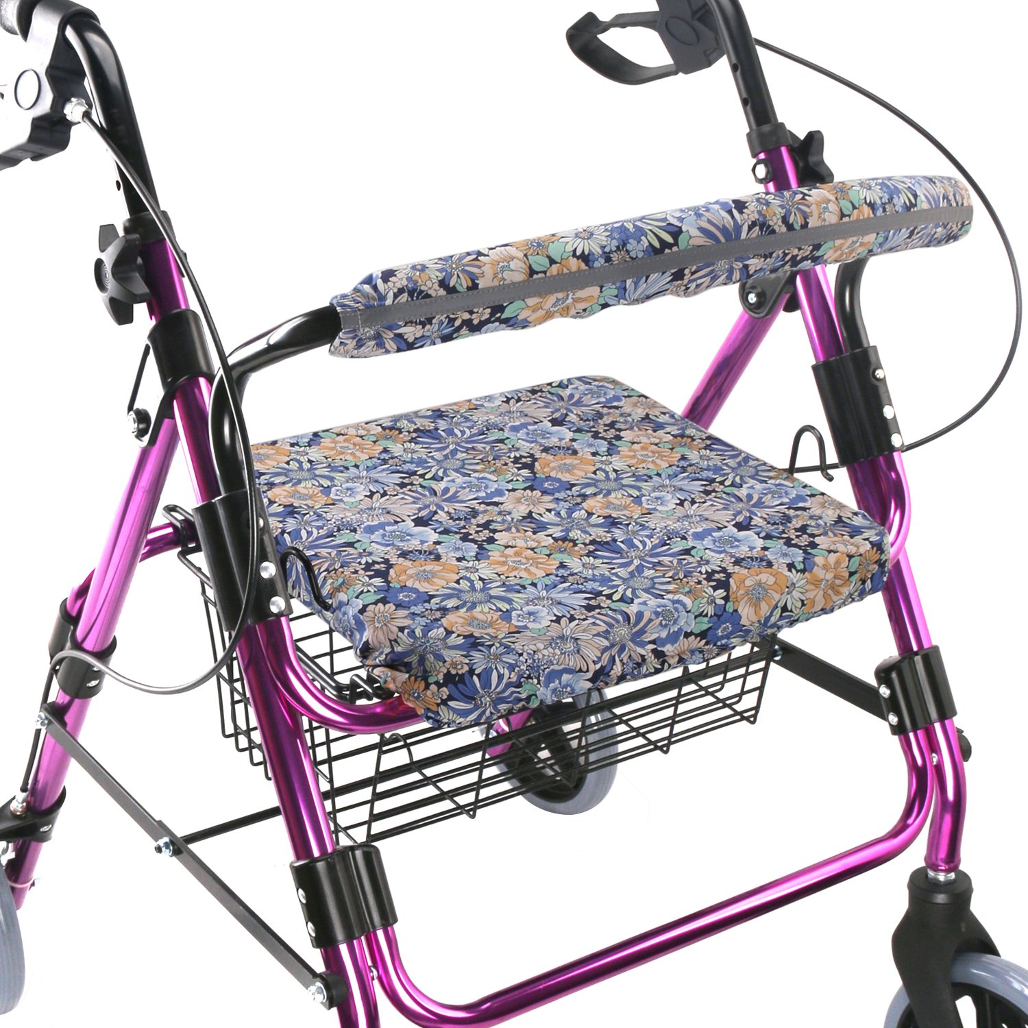 Walker Seat Cover Rollator Walker Seat and Backrest Covers Vibrant Walker Cover One Size Multiple Colors (CB1881)