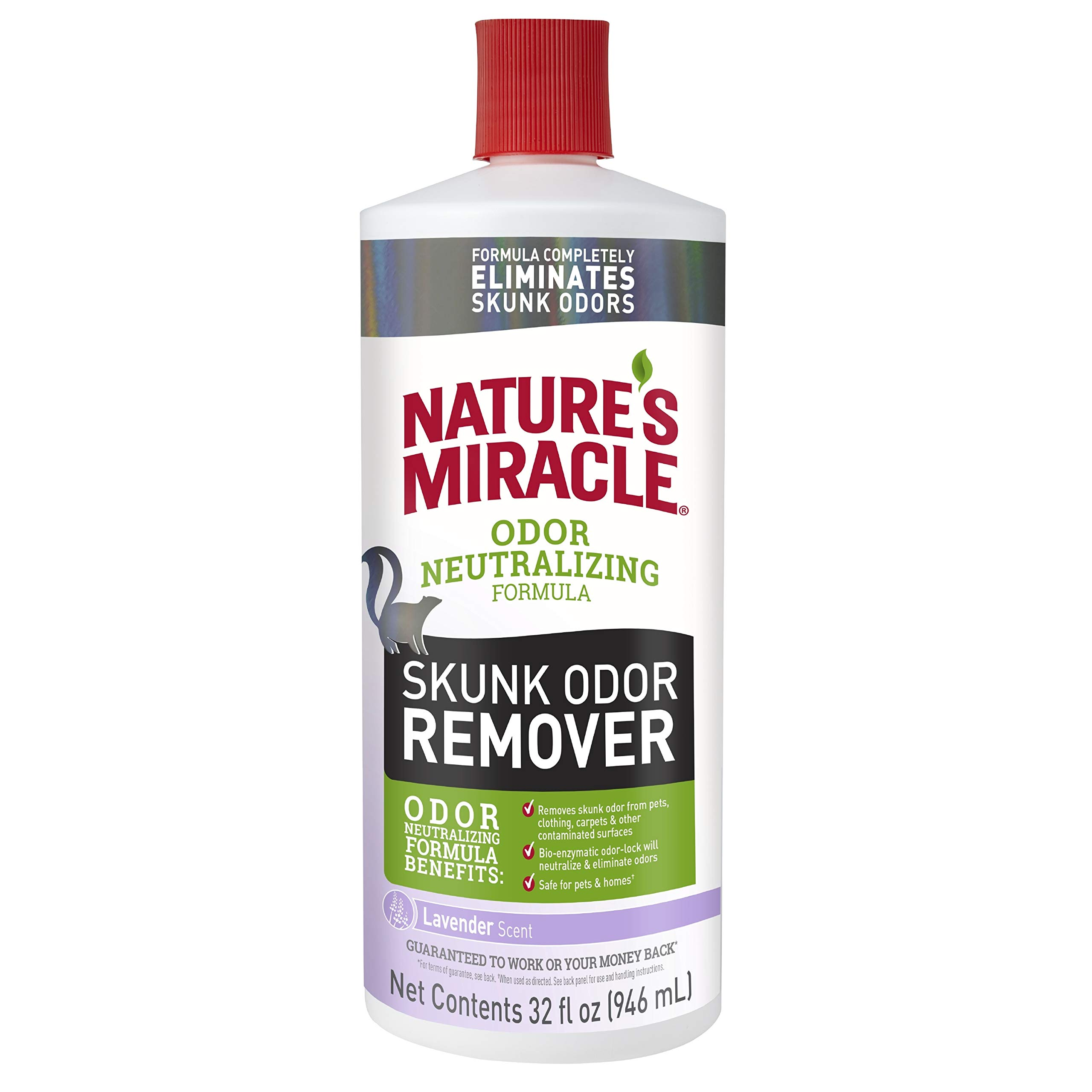 Nature's Miracle P-98220 Nature's Miracle Skunk Odor Remover Odor Neutralizing Formula, 32 fl. oz., Lavender Scent