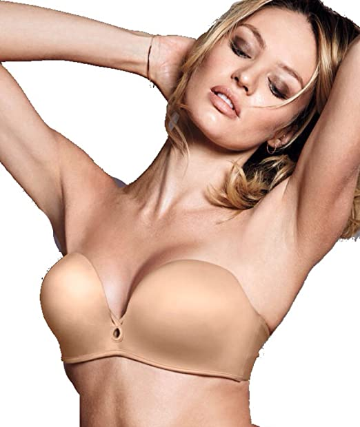 3229af8d62 Victoria s Secret Bombshell Multi-way Strapless Push-Up Bra  34B Beige   Amazon.ca  Clothing   Accessories