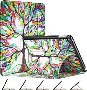 Fintie Case for iPad 6th / 5th Generation (9.7 Inch 2018/2017), iPad Air 2, iPad Air - [Multiple Secure Angles] Slim Magnetic Kickstand Protective Cover with Auto Sleep Wake Feature, Love Tree
