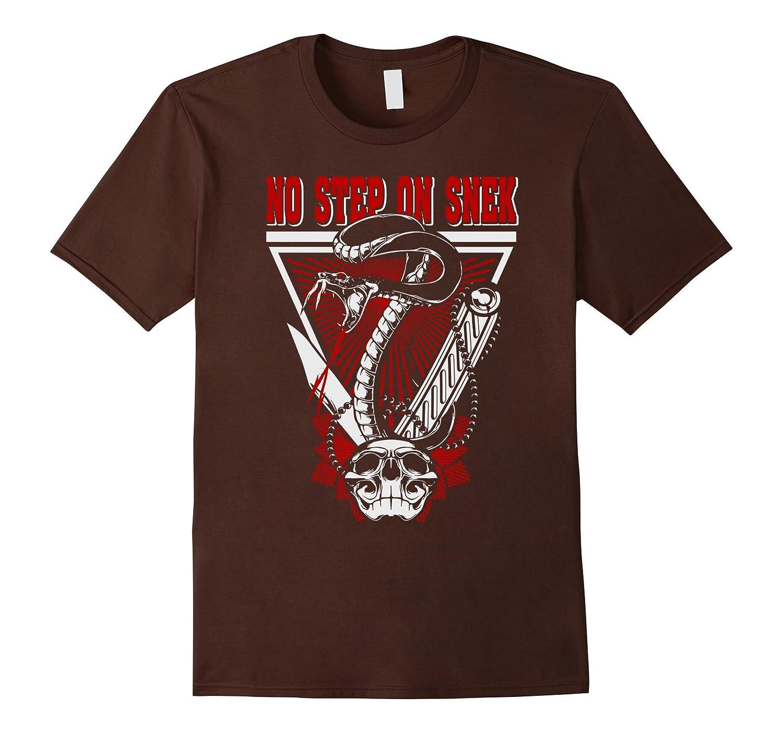 men's No Step On Snek t shirt Black