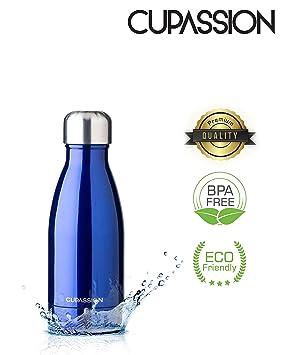 CUPASSION Cup assion EVI – Acero inoxidable vacío termo (260 ml & 500 ml & 750 ml | Botella Botella de agua | Mantiene Bebidas 18H caliente & 24h fría ...