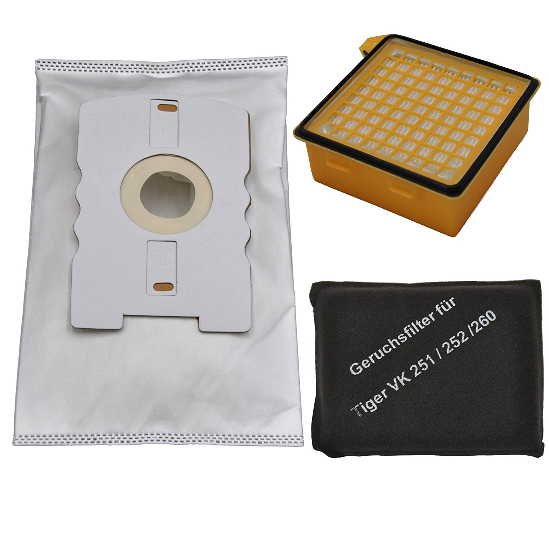 20 Staubsaugerbeutel Filtertüten Microvlies geeignet für Vorwerk Tiger 260-270