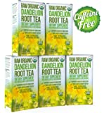 Dandelion Root Tea - Raw Organic Vitamin Rich Digestive - 5 Pack (100 Bags, 2g Each) - Detox Tea - Helps Improve Digestion and Immune System - Anti-inflammatory and Antioxidant - By Kiss Me Organics