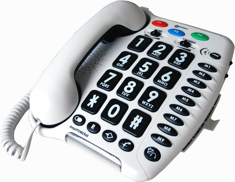 Geemarc Amplipower 40 Telefon Verstärkt 40 Db Mit Elektronik