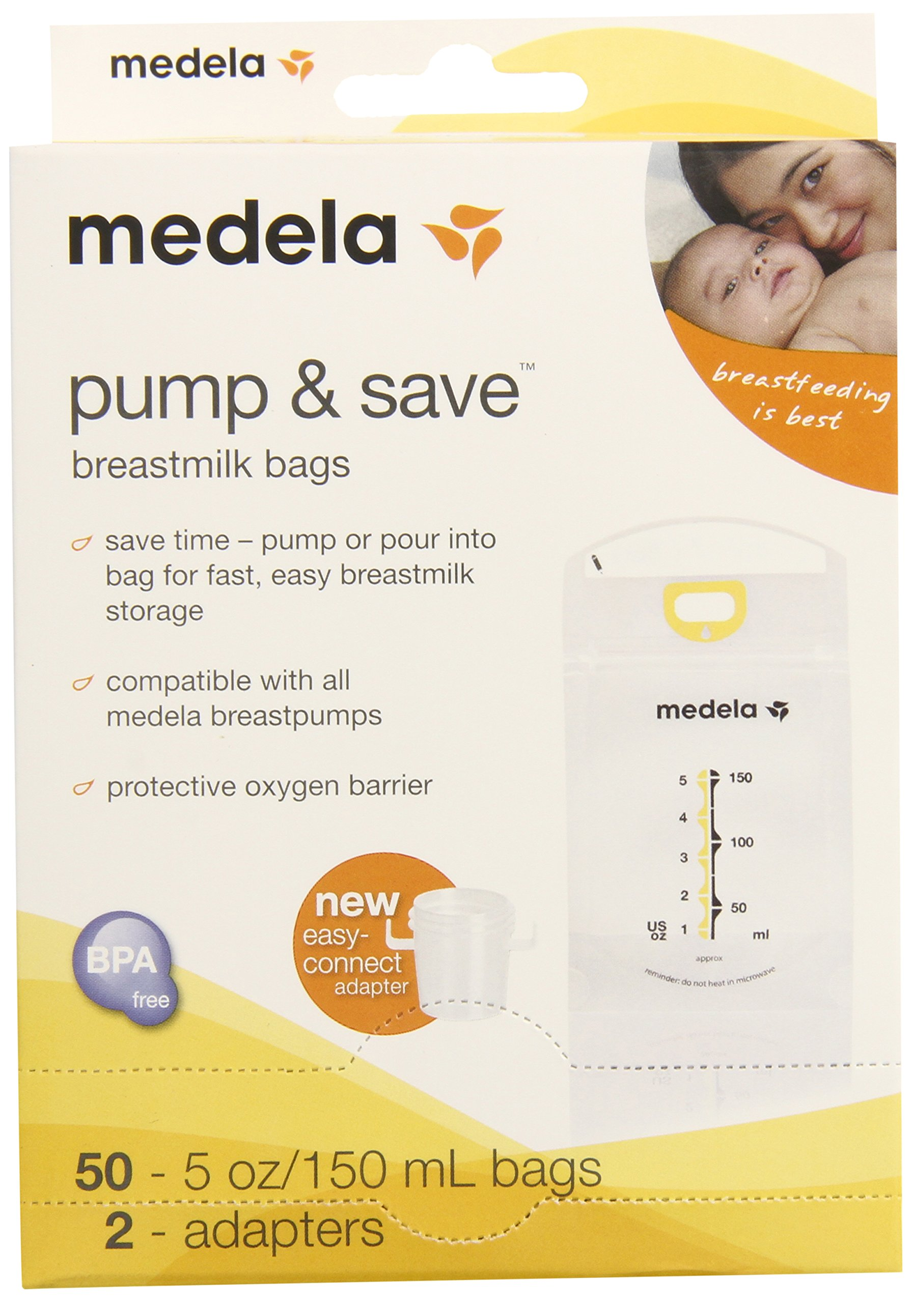 Medela Pump and Save Breast Milk Bags, 50 Count by Medela