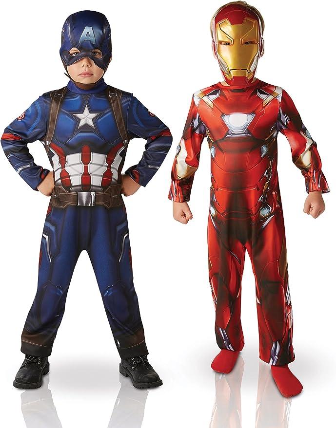 Marvel – I-620775S – Paquete con Dos Disfraces (Iron Man y Capitán ...
