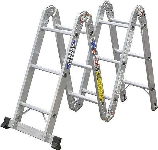 Werner 250-pound Duty Índice aluminio Multi-Master Escalera articulada: Amazon.es: Bricolaje y herramientas