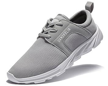 Zapatillas para correr Vanskelin, calzado de hombre, con cordones, malla transpirable, estilo casual: Amazon.es: Deportes y aire libre