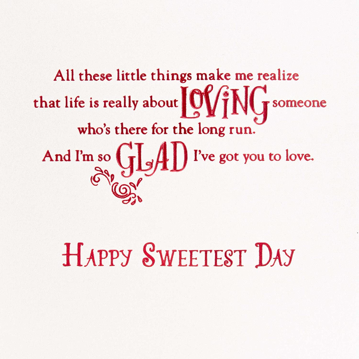 Amazon Hallmark Sweetest Day Card For Husband Love Being