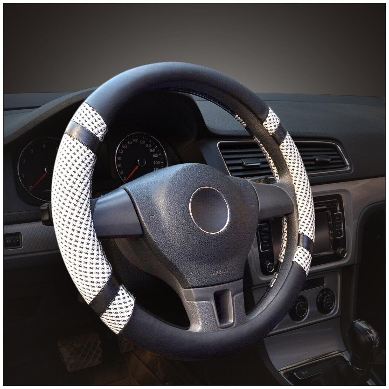 Car Steering Wheel Cover Universal Anti-slip Sleeve Genuine Leather Protector