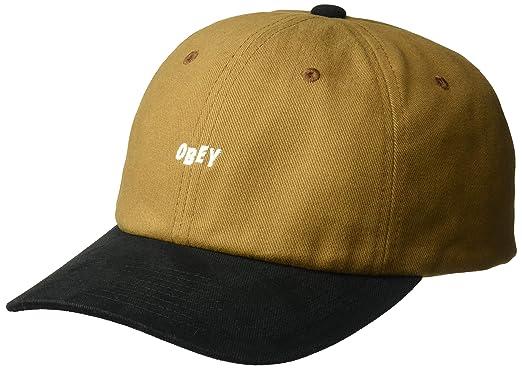 a8b89152940 Amazon.com  Obey Men s 90 S Jumble 6 Panel Snapback HAT