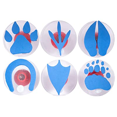 Center Enterprises Inc. Ready2Learn Giant Stampers, Paw Prints, 6/Set, Multicolor (CE6761): Industrial & Scientific