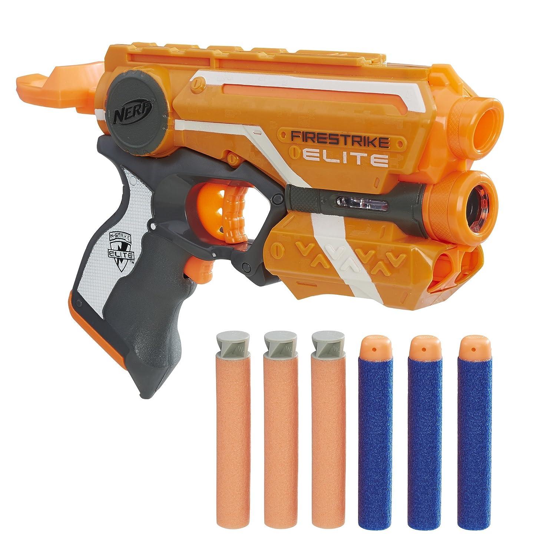 Nerf Elite Firestrike Pistola dardos22cm Doble Dardos, única (Hasbro E0441EU4)